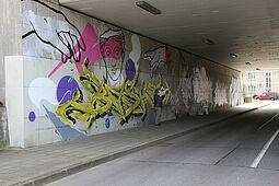 Unterführung zwischen Untermühl- und Dornwaldsiedlung. Foto: om