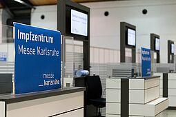 Zentrales Impfzentrum Messe Karlsruhe. Foto: cg
