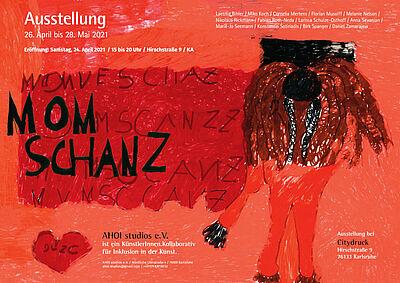 """Ausstellungsplakat """"MOMSCHANZ"""". Grafik/Fotos: pm"""