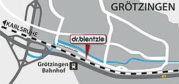 Anfahrt zu dr.bientzle Gesundheitsclub Grötzingen