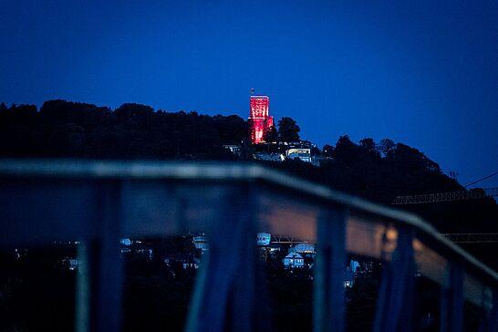 """22 #DuFürDurlach – """"Night of Light"""" in Durlach und Karlsruhe - Gestern Abend erstrahlten bundesweit Gebäude in rot, um auf die dramatische Situation der Veranstaltungswirtschaft aufmerksam zu machen. (19 Fotos/1 Video)"""