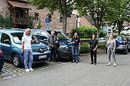 v.l.n.r.: Ahmet Emmez (TBA), Gunnar Petersohn (stadtmobil), OV Alexandra Ries, Ulrike Fessler-Ertl (stadtmobil) und Ella Madak (TBA). Foto: om