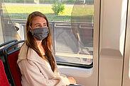 Maske tragen, Verantwortung tragen: Ab dem 27. April gilt auch in den öffentlichen Verkehrsmitteln eine Maskenpflicht. Foto: KVV