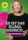 Sylvia Kotting-Uhl: Es ist das Klima, Mensch. Grafik: pm