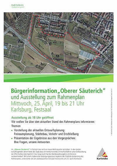 """Informationsabend zum Wohnquartier """"Oberer Säuterich"""". Grafik: pia"""