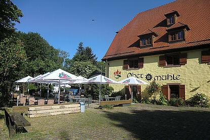 Das Restaurant im Naturfreundehaus Obermühle. Foto: pm