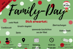 Family-Day – Die AGAPE-Krabbler laden ein. Grafik: pm