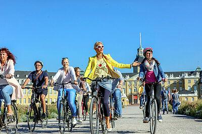 Per Rad die Fächerstadt erkunden. Foto: pm