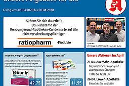 Rundum gesund Apotheken: Aktionen und Angebote im April 2020. Grafik: pm