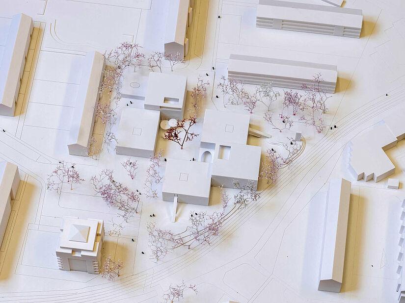 Modell des Siegerentwurfs. Foto: pro ki ba GmbH / kirchliches bauen