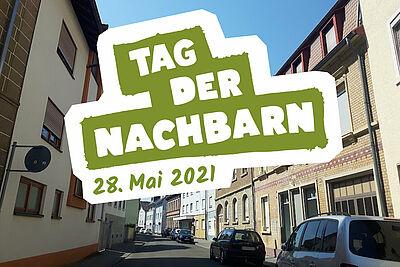 Tag der Nachbarn am 28. Mai: Das Quartiersmanagement Durlach-Aue ruft zum Mitmachen auf. Foto: cg / Grafik: pm