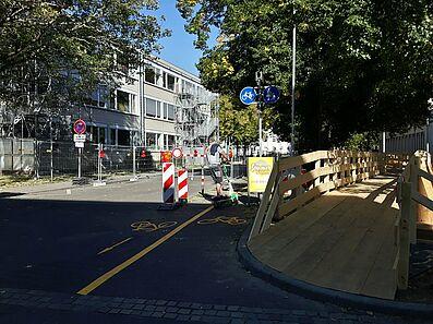 Fuß- und Radverkehr sind räumlich getrennt. Foto: cg
