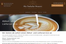 Badisch lecker daheim - Der Abhol- Lieferservice der Alten Durlacher Brauerei. Grafik: pm/om