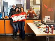 Birgit Schlagenhof-Braun (l.) übergab einen Scheck über 2.000 Euro an KJH-Leiterin Nadine Mössinger. Foto: pm