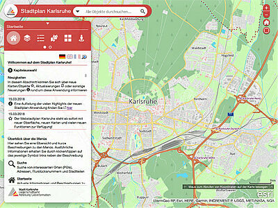 Startansicht Web-Stadtplan. Grafik: pm