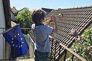 """Ob mit Trompete oder Gesang: Am Samstag 9. Mai um 18 Uhr heißt es: """"Die Stimme für Europa erheben"""". Foto: Stadt Karlsruhe/SAM"""