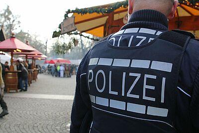 Auch bei Veranstaltungen präsent wie hier beim Durlacher Weihnachsmarkt. Foto: cg