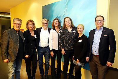 Bewährtes Team in Durlach (v.l.): Schahryar Essari, Simone Allinger, Marcus Fränkle, Christine Weissert, Inka Sarnow, Meike Eberstadt und Daniel Jeftic. Foto: cg