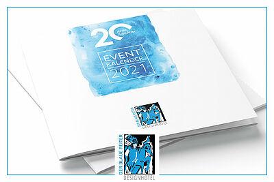 Hotel Der Blaue Reiter: Eventkalender 2021. Grafik: pm