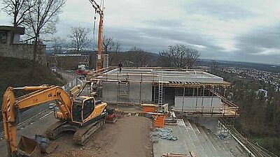Blick per Webcam auf die Turmberg-Baustelle. Foto: Stadt Karlsruhe