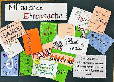 """""""Mitmachen Ehrensache"""" im Coronajahr: Vielfältige Dankeschön-Aktionen statt Arbeitseinsätze. Foto/Grafik: pm"""