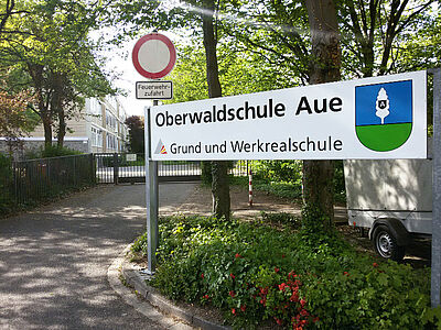 Oberwaldschule in Aue. Foto: cg