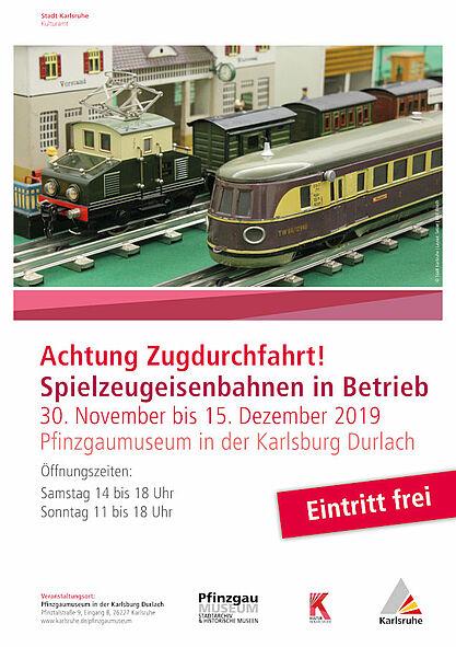 Weihnachtsausstellung im Pfinzgaumuseum: 30. November bis 15. Dezember 2019. Grafik: pm