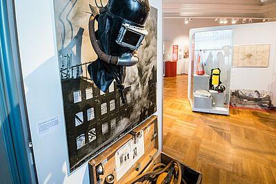 """Die aktuelle Sonderausstellung """"Wasser marsch! 175 Jahre Freiwillige Feuerwehr Durlach"""" kann während der KAMUNA im Pfinzgaumuseum besichtigt werden. Foto: cg"""
