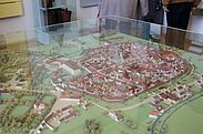 Pfinzgaumuseum: Modell der Durlacher Altstadt. Foto: cg