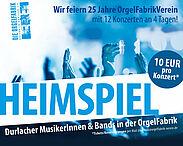 Heimspiel 2018 in der Orgelfabrik. Grafik: pm