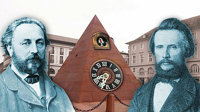 Historischer Vortrag: Zum Kuckuck mit Karlsruhe. Grafik: siehe BU