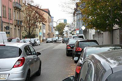 Es wird eng in der Pfinzstraße. Foto: om
