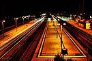 Durlach Bahnhof bei Nacht