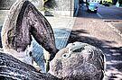 Skulptur vor der Weiherhalle 2