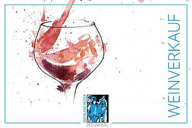 Hotel der Blaue Reiter bietet vor Weihnachten Weinverkauf außer Haus an. Grafik: pm