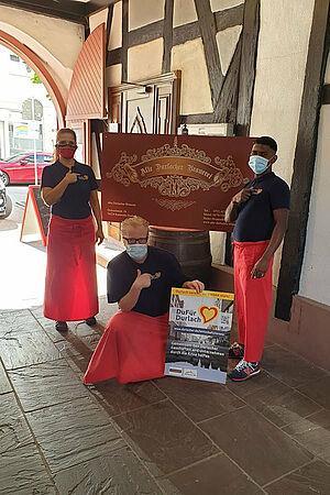 #DuFürDurlach - Das Team der Alten Durlacher Brauerei sagt DANKE. Foto: pm