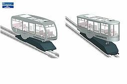 Turmbergbahn: modern oder klassisch. Grafik: Doppelmayr/Garaventa