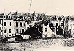 Zerstörte Häuser in der Weingartener Straße, Zweiter Weltkrieg