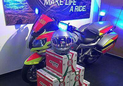 Neue Helme für die ASB-Motorradstaffel. Foto: pm