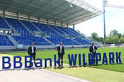 """Ab der kommenden Saison spielt der Karlsruher SC im """"BBBank Wildpark"""". Foto: pm"""