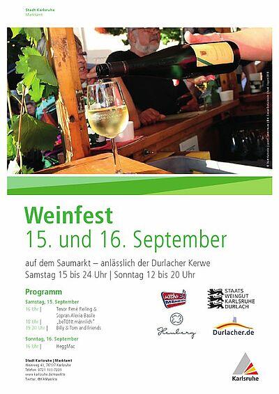11. Durlacher Weinfest. Grafik: pm