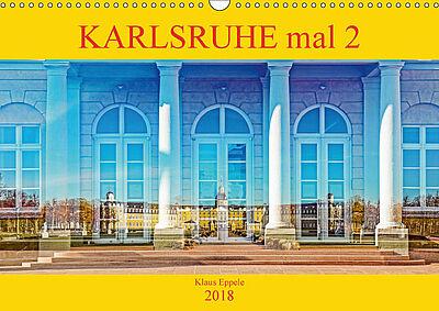 """""""Karlsruhe mal 2"""" – Cover des Monatskalenders. Fotos: pm"""