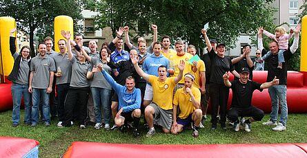 Menschen-Kicker-Turnier 2013 – Siegerehrung. Foto: cg