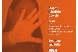 Plakataktion gegen häusliche Gewalt. Grafik: Stadt Karlsruhe