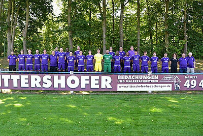 Die Erste Mannschaft der SpVgg Durlach-Aue (Saison 2020/21). Foto: pm