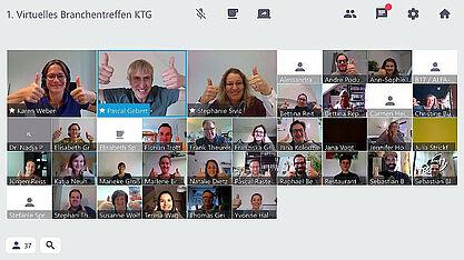 Erfolgreiches erstes digitales Branchentreffen der KTG Karlsruhe Tourismus GmbH. Foto: pm