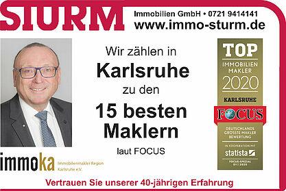 Einer der besten Makler in Karlsruhe. Grafik: pm