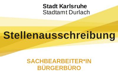 Sachbearbeiter*in Bürgerbüro. Grafik: Stadt Karlsruhe/cg