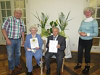 Ehrenmitgliedschaft für Klara und Adolf Rauleder