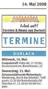 Wochenblatt vom 14. Mai 2008